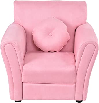 Costzon Kids Sofa, Toddler Armrest Chair Couch w/Mini Pillow for Girls &  Boys Bedroom Living Room, Children Furniture (Pink)