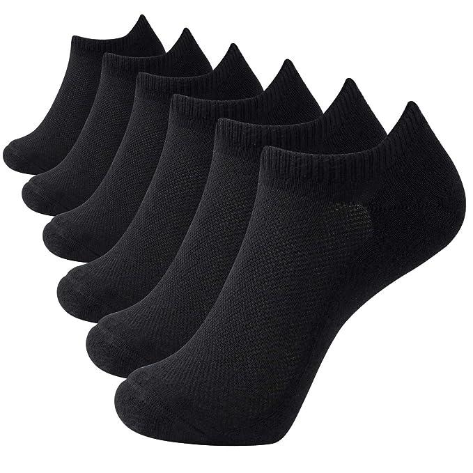 6 pares de calcetines de bambú unisex