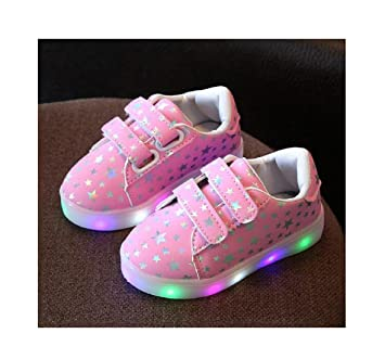 8f2a510f7d72a Children Shoes With Light Chaussure Led Enfant Spring Autumn New Stars Led Girls  Shoes Sports Breathable