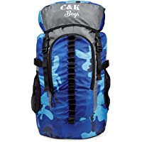 Chris & Kate Unisex Polyester 45L Travel Rucksack Backpack (Blue and Grey)