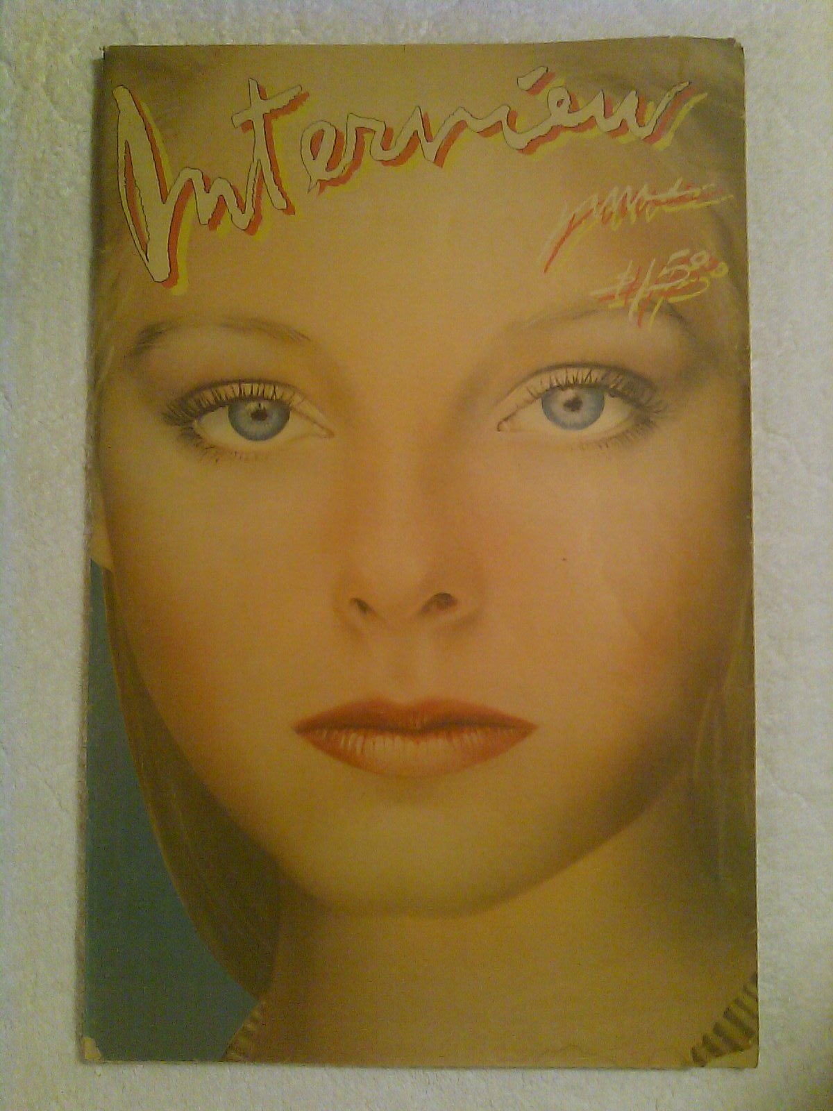 interview magazine jodie foster front cover vol x no 6 1980 andy warhol