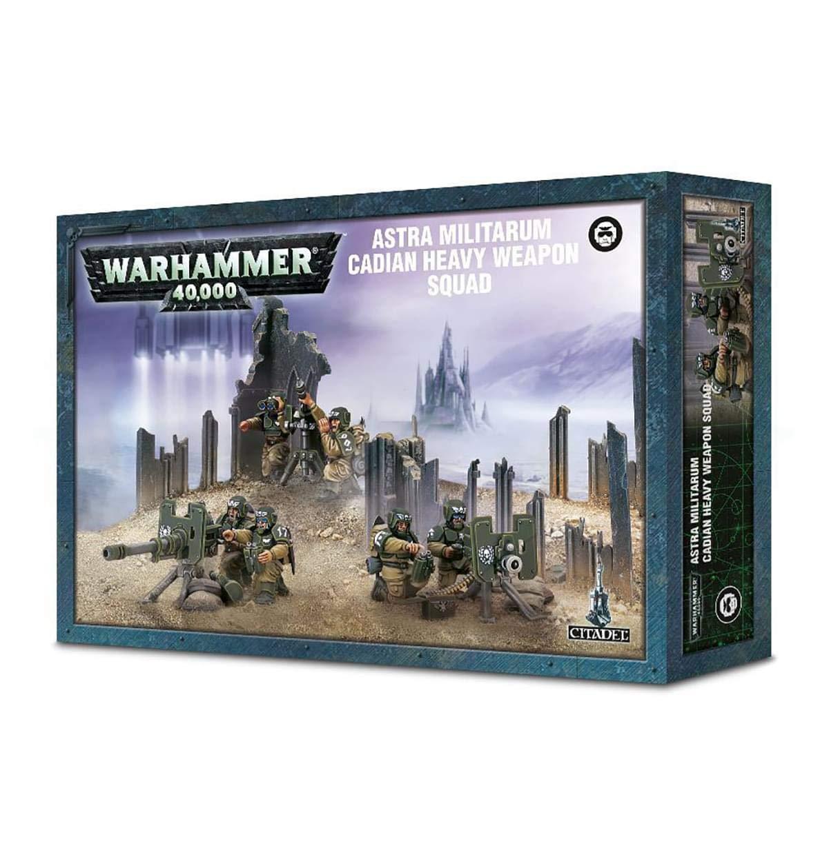 Games Workshop Warhammer 40,000 Astra Militarum Cadian Heavy Weapon Squad