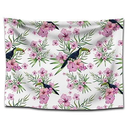 FUWUX Home Toucan Loro atrapasueños Impreso tapicería Lonas Mantas Toalla de Playa hogar Pinturas Decorativas Mantel