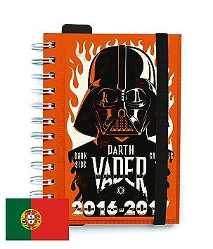 Agenda Escolar Dia Pagina 2016/2017 Star Wars (PT): Amazon ...