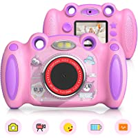 $39 » Campark Kids Cameras Digital Video Camera for Girls Boys, Toy Gifts for Age 4-8 Dual Selfie,…