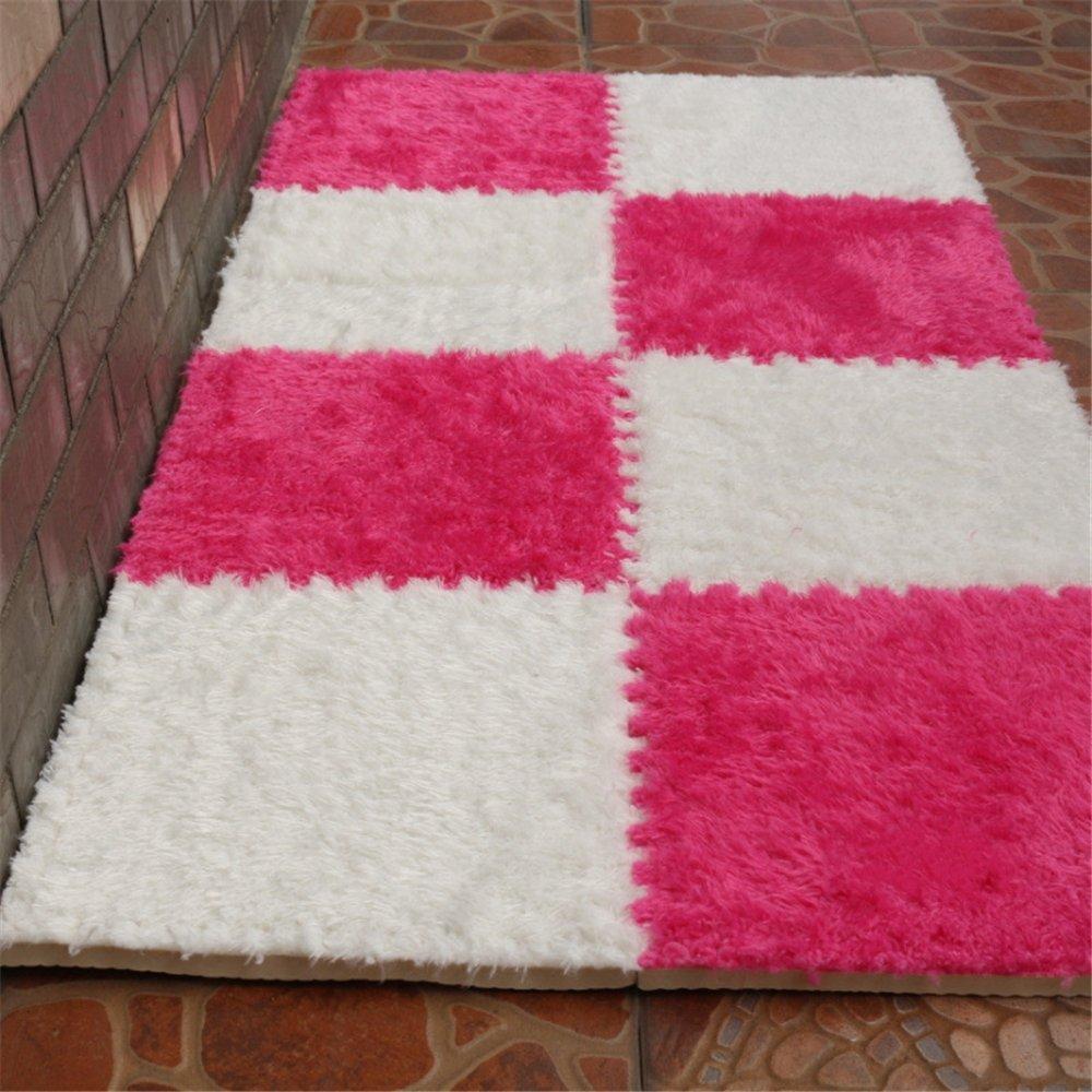 Carpet Interlocking Floor Tiles - Plush Carpet Area Rug - Puzzle Floor Mat - Interlocking Carpet Tiles, Thick, Non Toxic, Anti-Fatigue, Fluffy,Premium Foam Mat