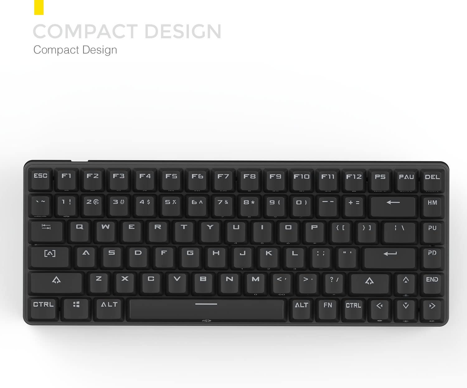 DREVO Excalibur 84-Key Cherry MX Switch Full Metal Mechanical Gaming Keyboard Cherry MX Blue Switch with Specially Coated Keycaps Black Edition