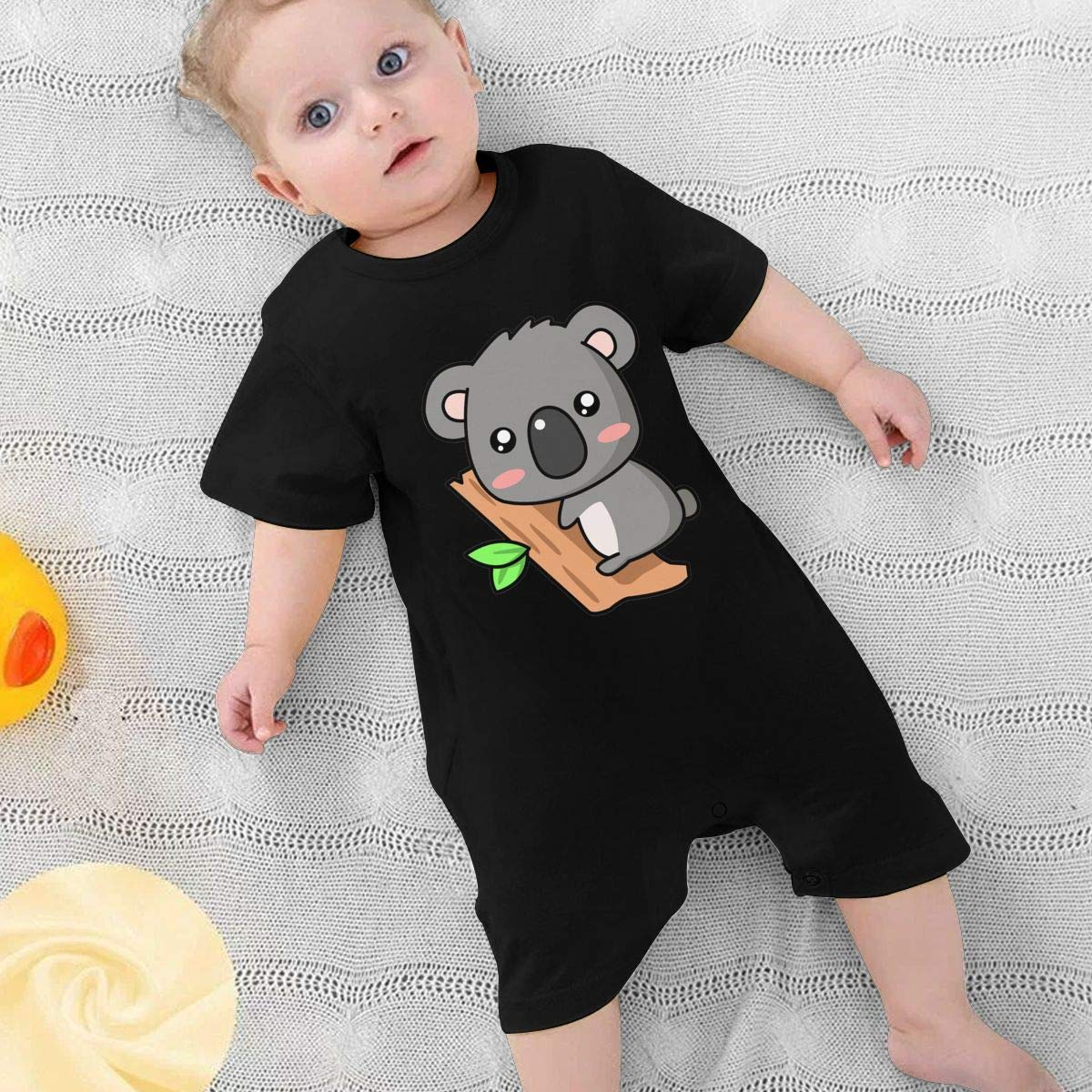 Baby Boys Girls Romper Jumpsuit Cute Koala Newborn Short Sleeve Bodysuits Infant Outfit Funny Onesie for 0-2T