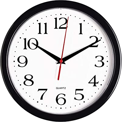 kincaid wall clock with military time home kitchen. Black Bedroom Furniture Sets. Home Design Ideas