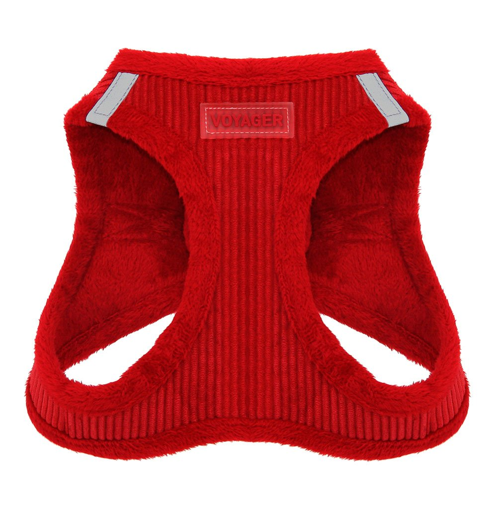 Voyager Soft Harness for Pets - No Pull Vest, Best Pet Supplies, Small, Red Corduroy