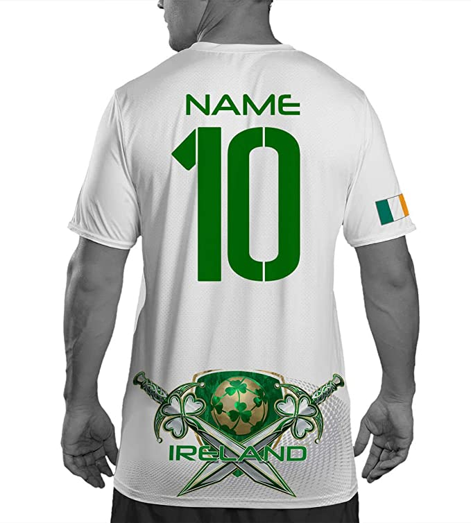 42e8bf104 Amazon.com  Ireland Soccer Jersey - Mens Custom 2018 World Cup Football  Mesh Shirt - Customizable Football Jersey Apparel  Clothing