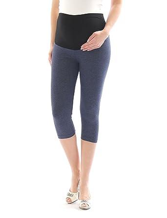 yeset Umstand Capri 3 4 Leggings Leggins Baumwolle Umstandsleggings Hose  mit Taschen  Amazon.de  Bekleidung 267480d3c9