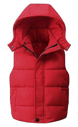 1c8e6076c Amazon.com  Happy Cherry Kids Padded Vest Winter Puffy Detachable ...