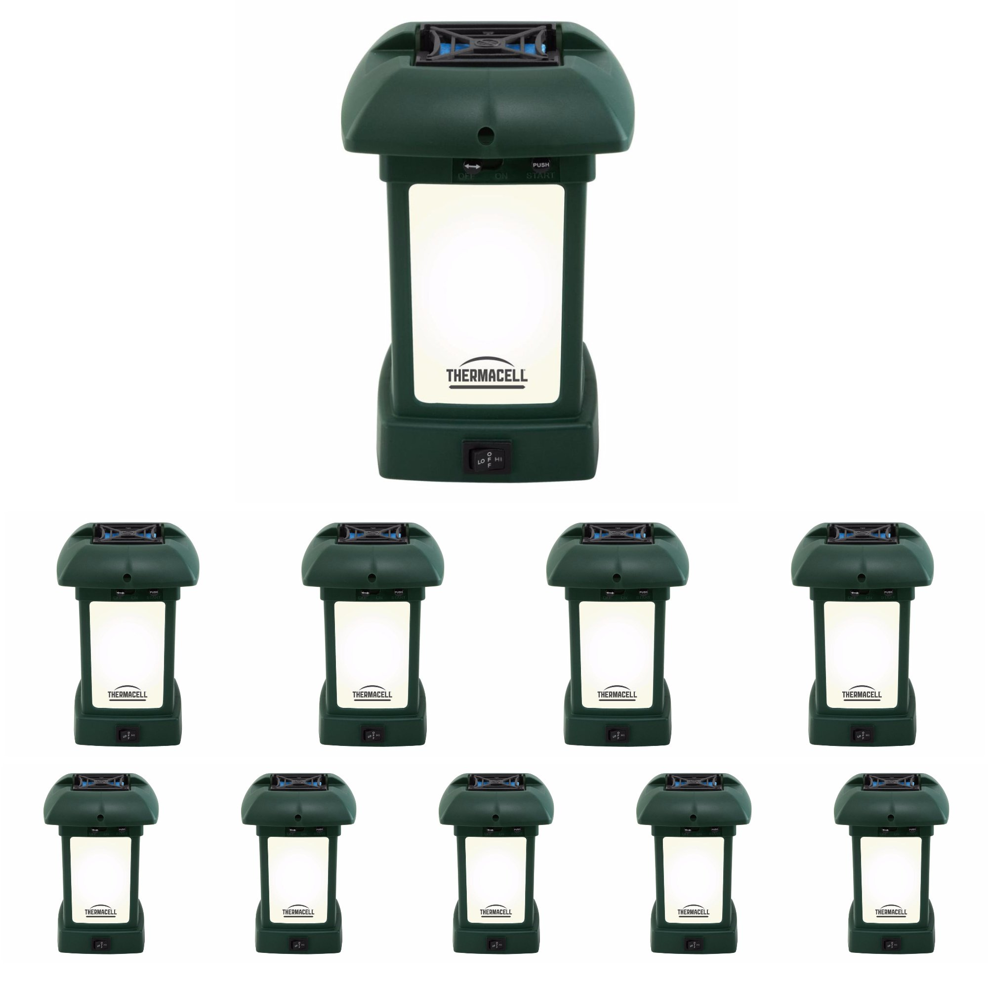 ThermacellMR-9L OutdoorMosquitoRepeller plusLantern (10-Pack) - Each protects a 15x15 ft. area)