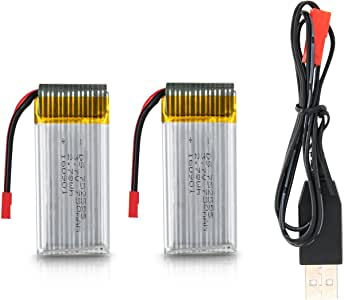 Potensic F181 Drone Bateria Battery 7.4V 500mAh( 2pcs) y un USB Cargador USB Charger (1pcs)