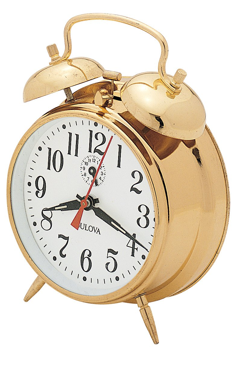 Bulova B8124 Bellman Clock, Brass Finish
