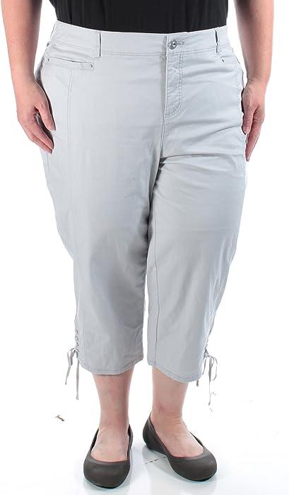 f041c959e8a Style   Co. Womens Plus Tummy Control Mid-Rise Capri Jeans Gray 14W ...