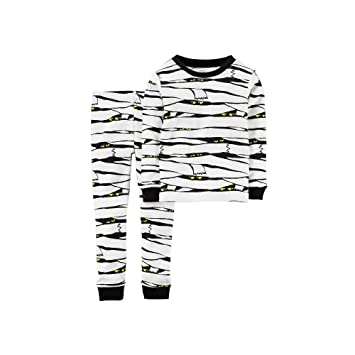 1b854664fbda Amazon.com  Carter s Little Boys  Glow-in-the-dark Halloween Pajamas ...