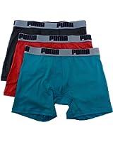 Puma Men's 3-Pc Teal Assorted Tech Boxer Brief Underwear Sz: XL