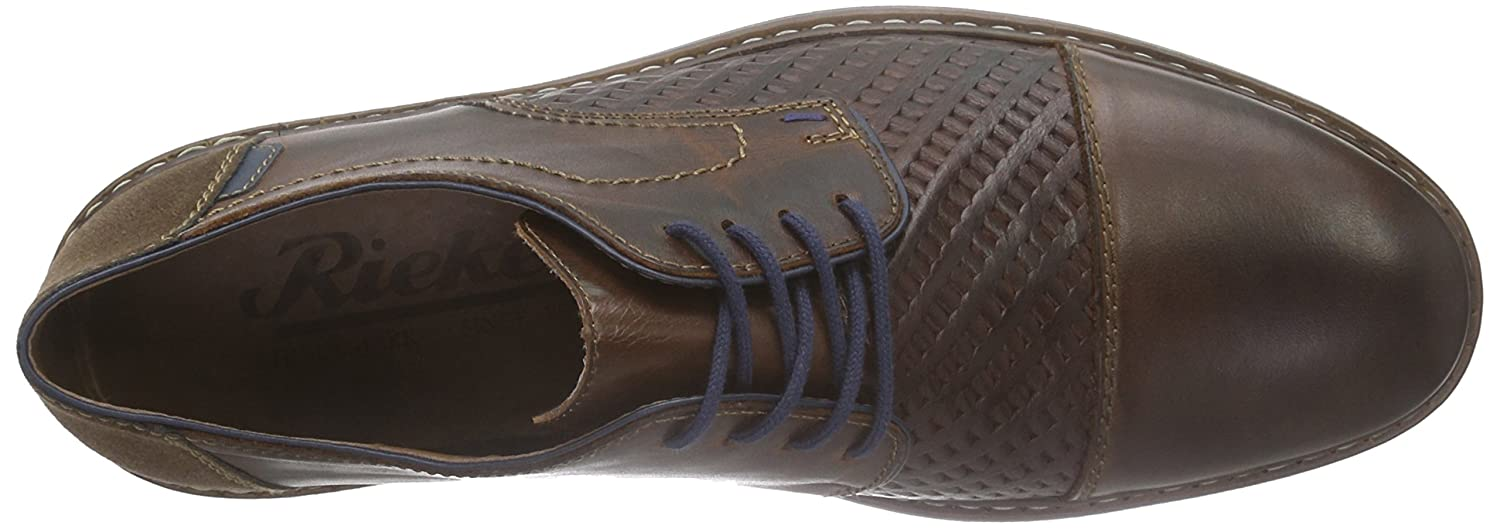 Rieker Braun 13412 Lace-up-Men Herren Derby Braun Rieker (Marron/Marron/Navy/Cigar / 27) 92c88f