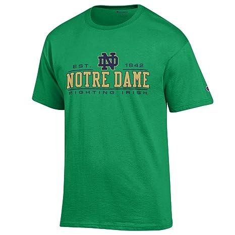 8d1916a4035 Amazon.com : Champion Notre Dame Fighting Irish Adult Logo T-Shirt ...