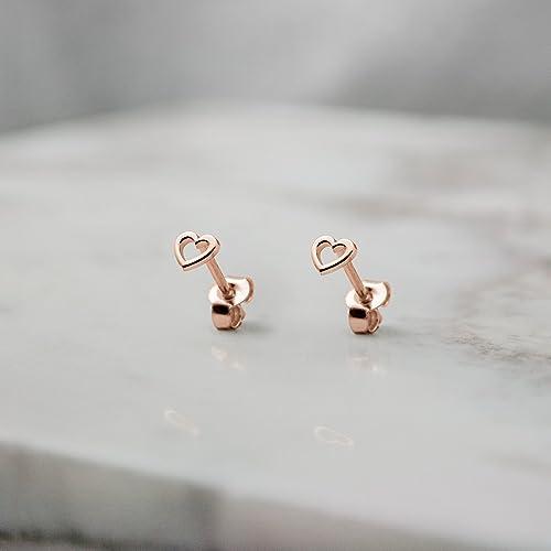 Amazon.com  Tiny Heart Earrings da7645e3f