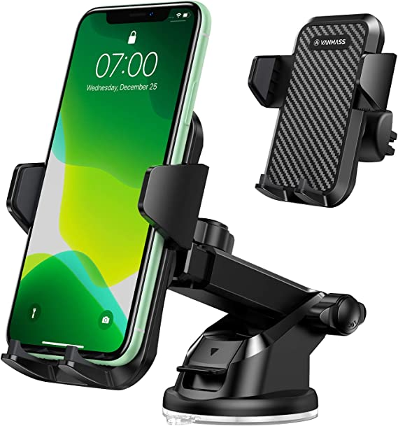 Amazon Com Vanmass Universal Car Phone Mount Patent Safety Certs Upgraded Handsfree Stand Dash Windshield Air Vent Phone Holder For Car Compatible Iphone 11 Pro Xs Max Xr X 8 7 6 Galaxy S20