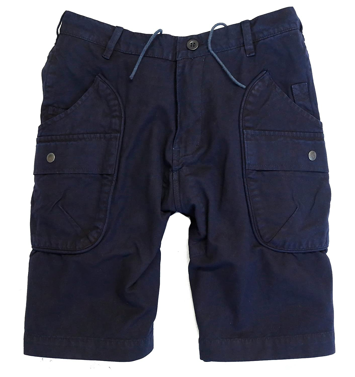 Kakadu Traders Logan Outdoor Cargo Shorts in schwarz, braun und blau
