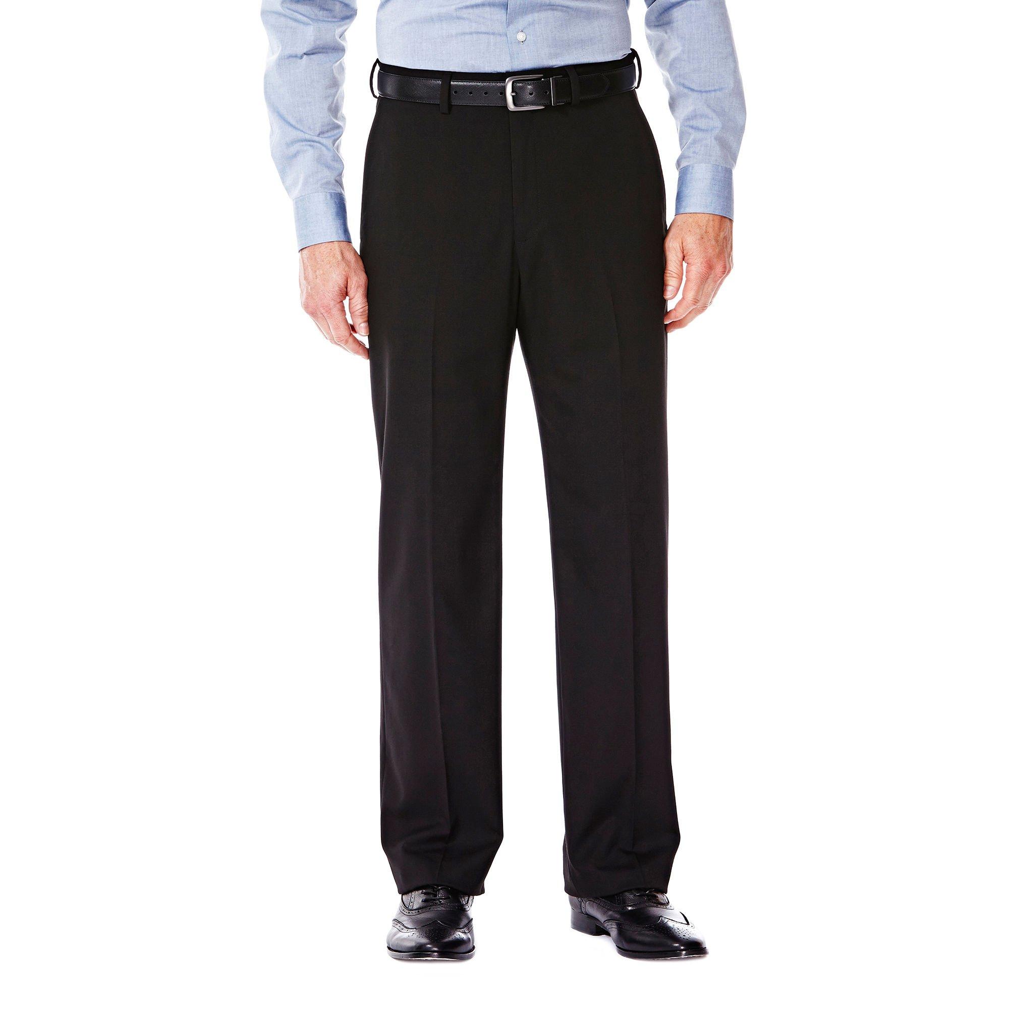 Haggar HY00182 Men's J.M. Premium Stretch Suit Jacket, Black - 38-34 by Haggar