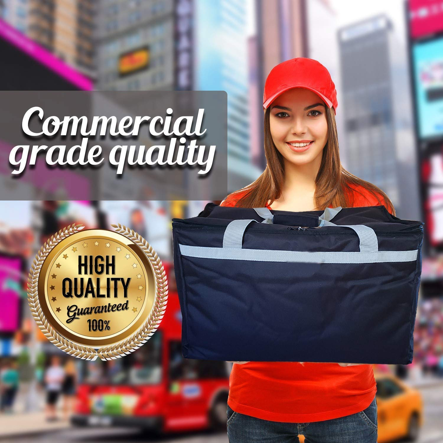 Candid- Insulated Food Delivery Bag (21''L x 14''W x 15''H), Hot/Cold Thermal Lightweight Grocery, Catering, Delivery or Party Bag. by CANDID (Image #2)