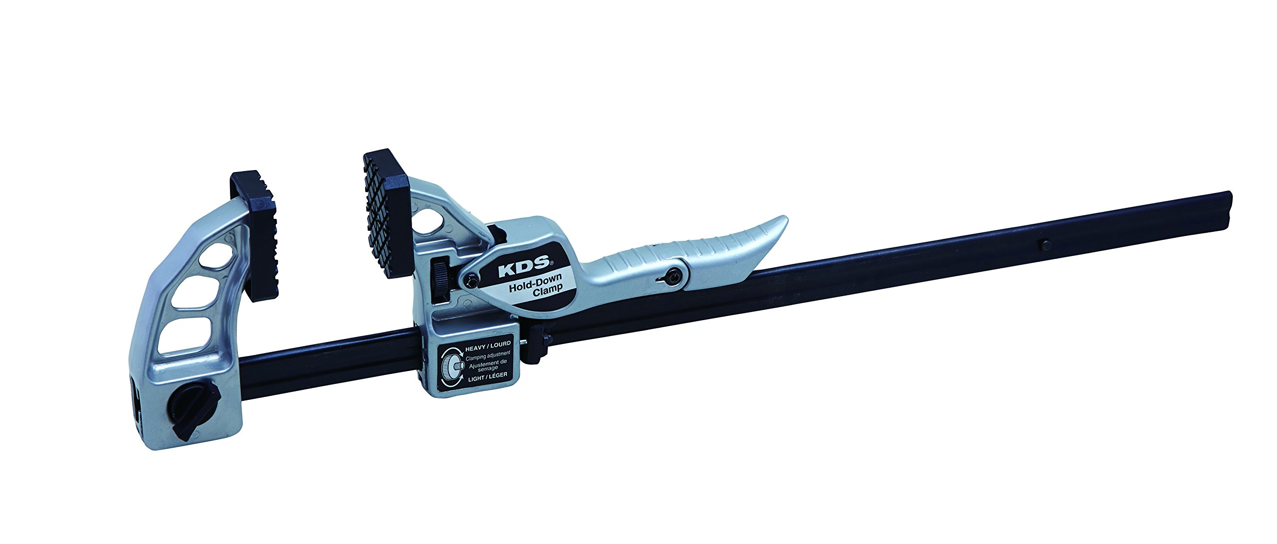 KDS MWB-600 Metal-Jaw Hold-Down Clamp, 24'', Silver