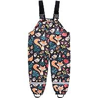 Pantalones de lluvia infantiles con diseño de dibujos animados, unisex, con peto para la lluvia, resistentes al viento y…