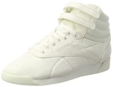 Womens Freestyle Lux TXT Hi-Top Trainers Reebok