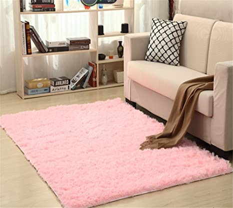 Amazon.com: FasterS Solid Rectangle Soft Cozy Shaggy Area Rug Fluffy ...