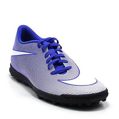 Nike - Zapatillas de fútbol Sala de Piel para Hombre Azul Turquesa Azul Size: 45.5: Amazon.es: Zapatos y complementos
