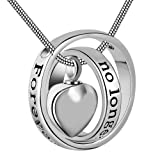 Amazon Price History for:No longer by my side,forever in my heart carved locket cremation Urn necklace for mom & dad