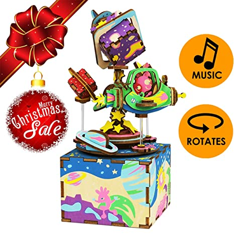 christmas sale magical universe musical box 3d puzzle craft toy top gift for kids - Amazon After Christmas Sale