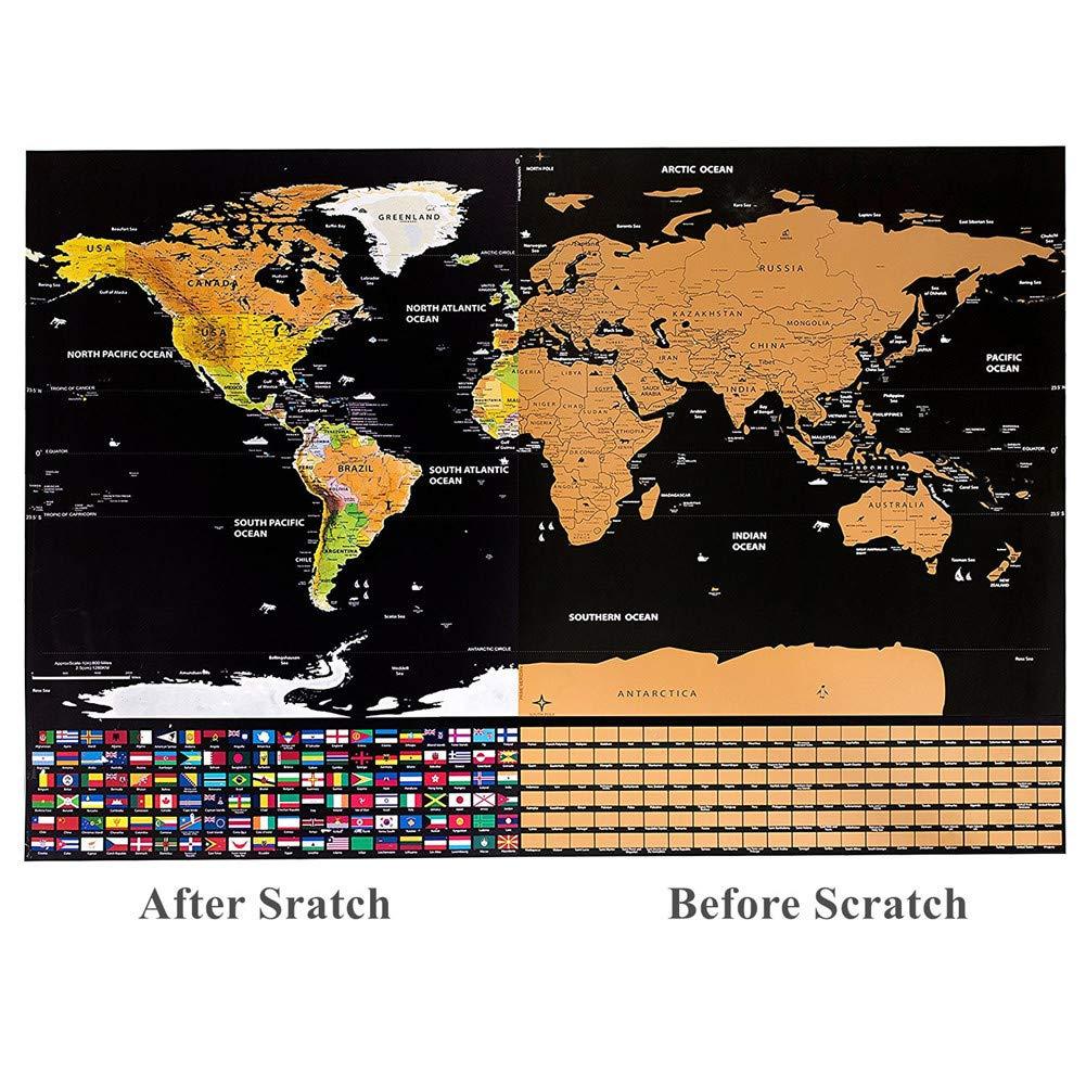 Cartina Mondo Con Bandiere.Argento Nero Guifier Mappa Del Mondo Da Grattare Cartina Mondo Da Grattare Poster Con Bandiere Gratta La Mappa Scratch Mappa Di Viaggio Perfetto Per Viaggiatori Esploratori Geografia Commercio Industria E Scienza Aaaid Org