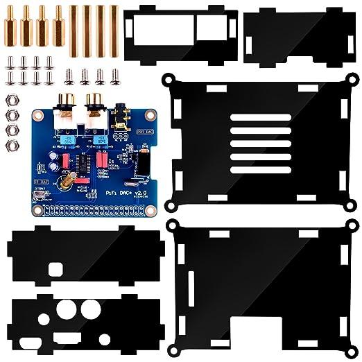 14 opinioni per Kuman I2S Interface PiFi DIGI DAC+ HIFI Digital scheda audio + Acrylic Case per