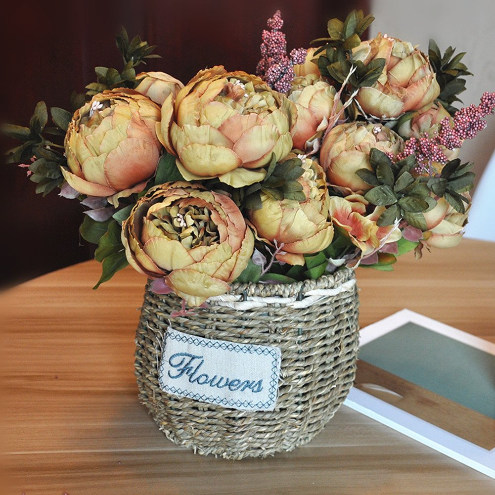 Best rated in artificial flowers helpful customer reviews amazon shine co artificial peony silk flowers bouquet glorious moral for home office parties and wedding mightylinksfo Image collections