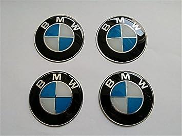 Juego de 4 pegatinas 65 mm de diámetro emblema tapas llantas, neumáticos, tapabujes, logo azul blanco (65 mm): Amazon.es: Coche y moto