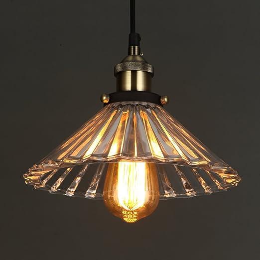 Onepre vintage modern glass hanging lighting pendant light for kitchen island living room dining room bedroom