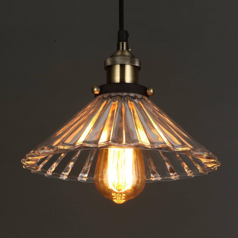 art deco lamp. ONEPRE Antique Modern Glass Pendant Light, Elegant Blue Color Lamp With ON/ Art Deco