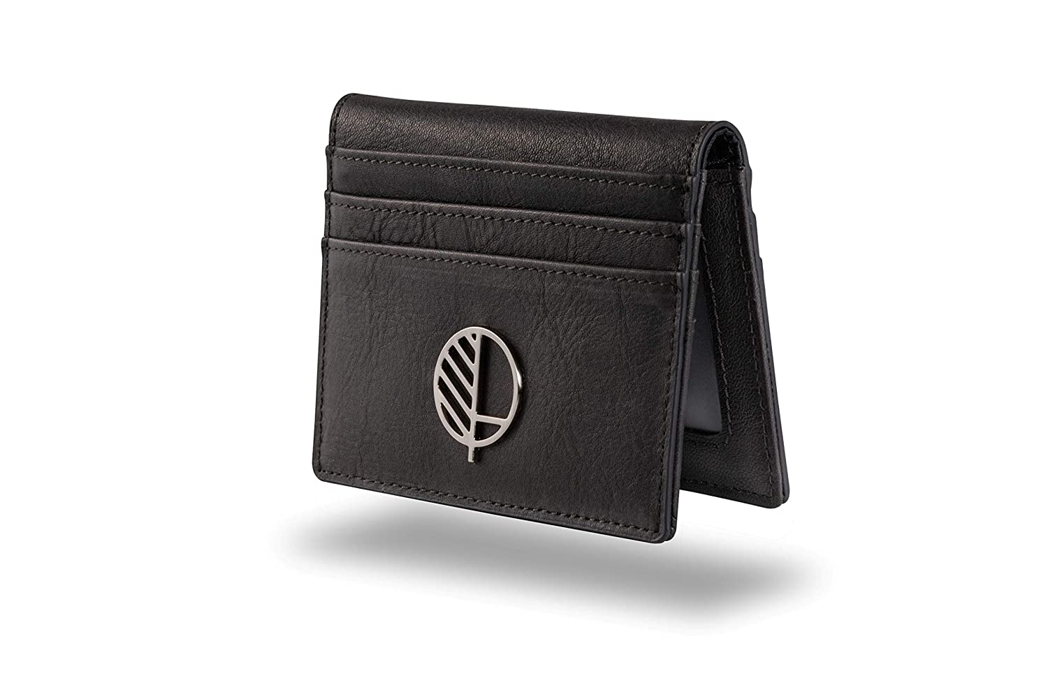 Mens Premium Real Leather Compact Wallet and Large Credit Card Holder with ID Window in Stunning, Sensuous, Genuine British Leather. The'Active' from Drew Lennox in Embossed Rich Brown. DL-LRGCH-BN