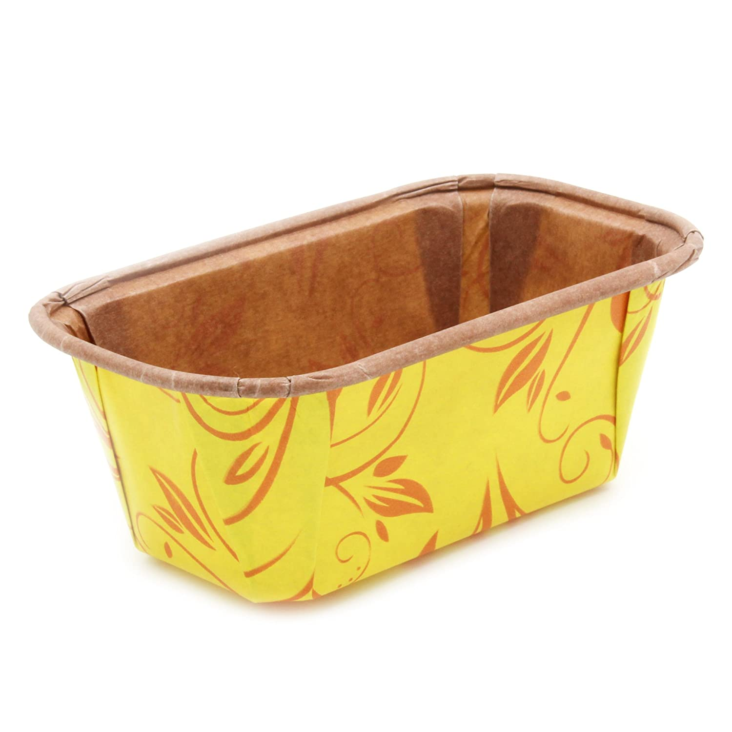 Premium Personal Mini Size Paper Baking Loaf Pan Perfect for Chocolate Cake Banana Bread Brown /& Gold Set of 10 by EcoBake