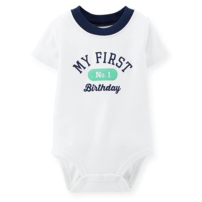 Carters Boys My First Birthday Bodysuit And Matching Bib 18 Months