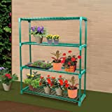 2 Units of 4-Tier Greenhouse Shelving Staging Plant Shelf Extra Large Portable