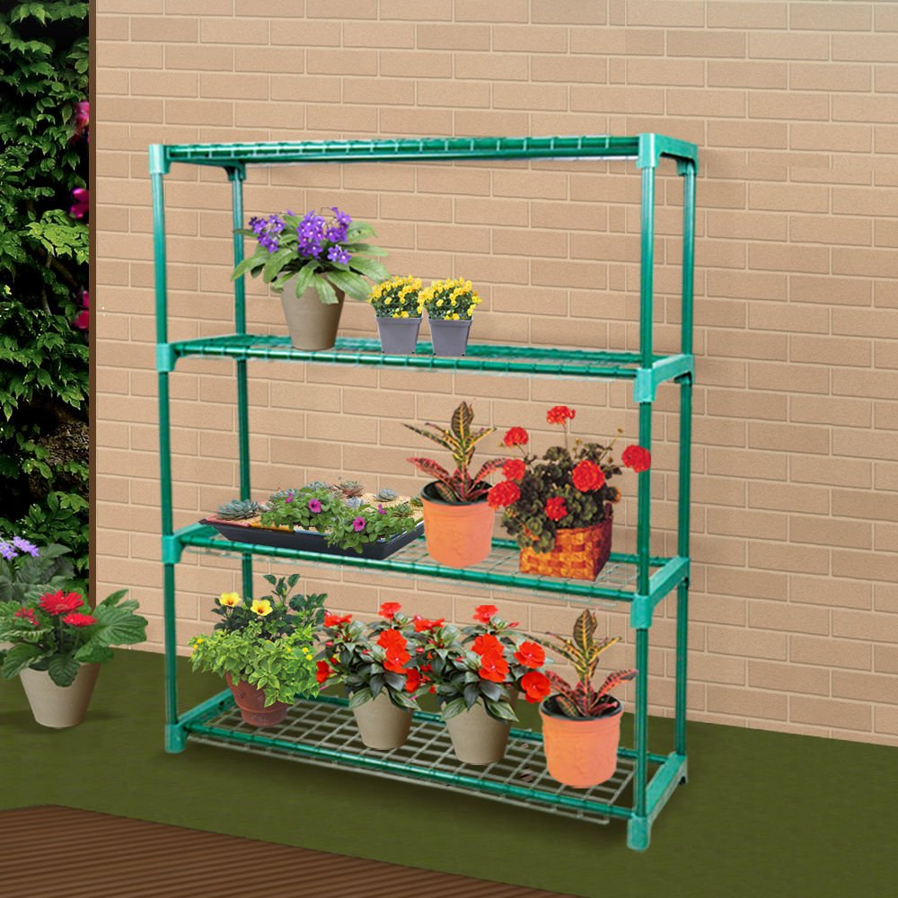 2 Units of 4-Tier Greenhouse Shelving Staging Plant Shelf Extra Large Portable by Generic