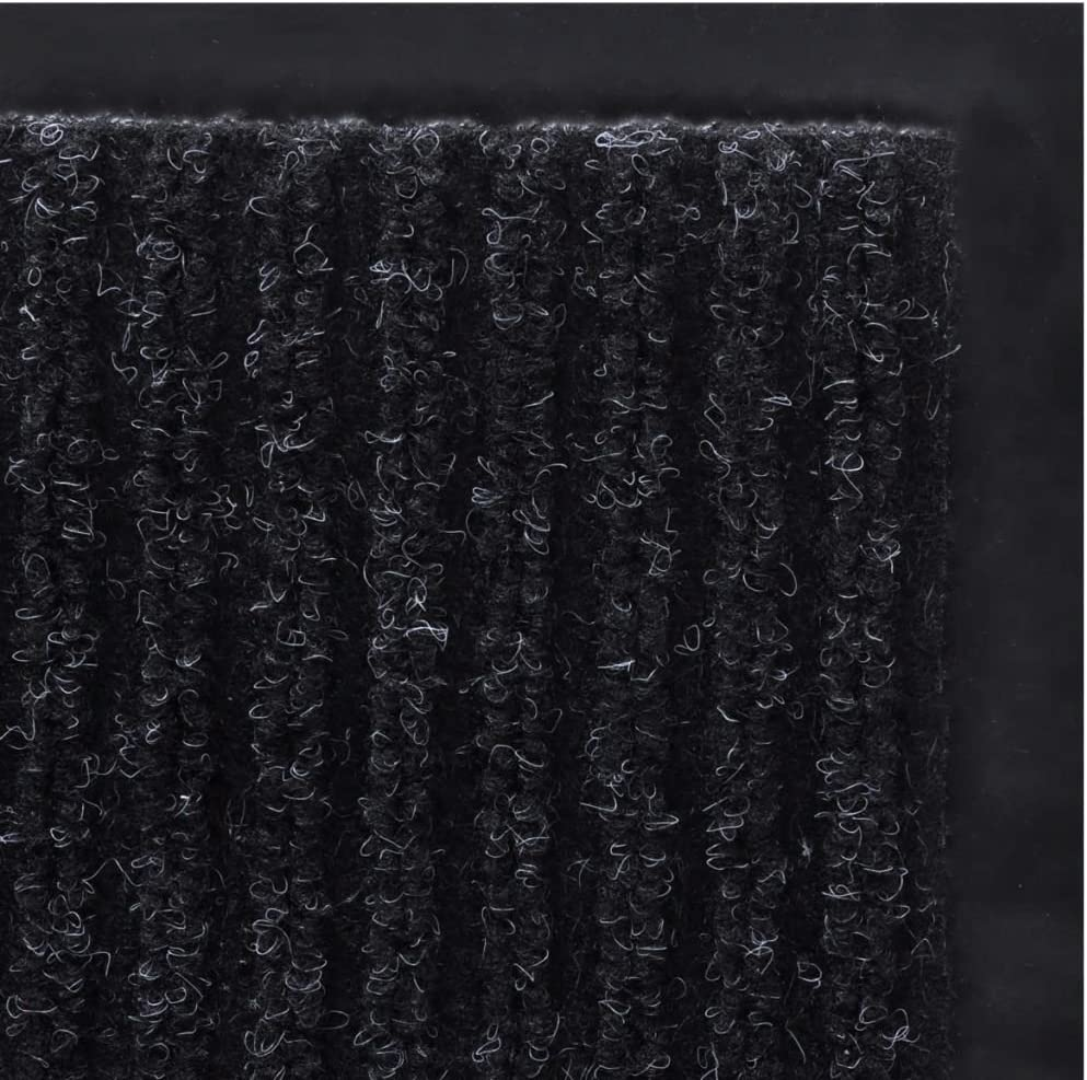 UnfadeMemory Alfombra Entrada Vinilo,Felpudo de Entrada,Alfombra Exterior o Interior para Hogar u Oficina,PVC 90x60cm, Negro