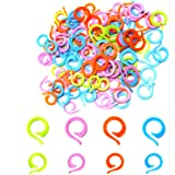 AIEX 120pcs Knitting Stitch Markers, 60 Large + 60 Small Plastic Crochet Stitch Markers, Knitting Stitch Rings for Sewing Kni